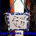 Tableau chat Bleu .