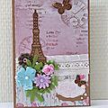 Shabby card In Paris