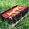 Un cheesecake de noël : chocolat / oranges confites