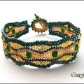 Bracelet Herringbone Vert