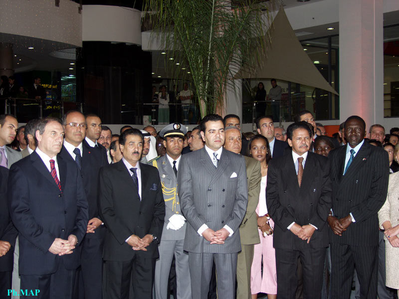 HRH Crown Prince Moulay Rachid dedicated the largest trade and leisure mega-mall in Morocco, second only to a similar one in South Africa, in the African continent. 4/30/2005