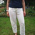 pantalon jupon blanc