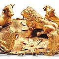 Fibule aux taureaux et au lion. Art Grec, ca. <b>Ve</b> <b>siècle</b> <b>av</b>. <b>J</b>.-<b>C</b>.