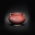 A fine and rare Junyao <b>red</b>-glazed jar, 14th-15th century