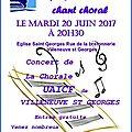 Concert de chant choral par l'uaicf villeneuve le 20 juin