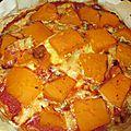 Pizza d'hiver au potimarron et au gorgonzola, pâte à la farine de maïs et de châtaigne