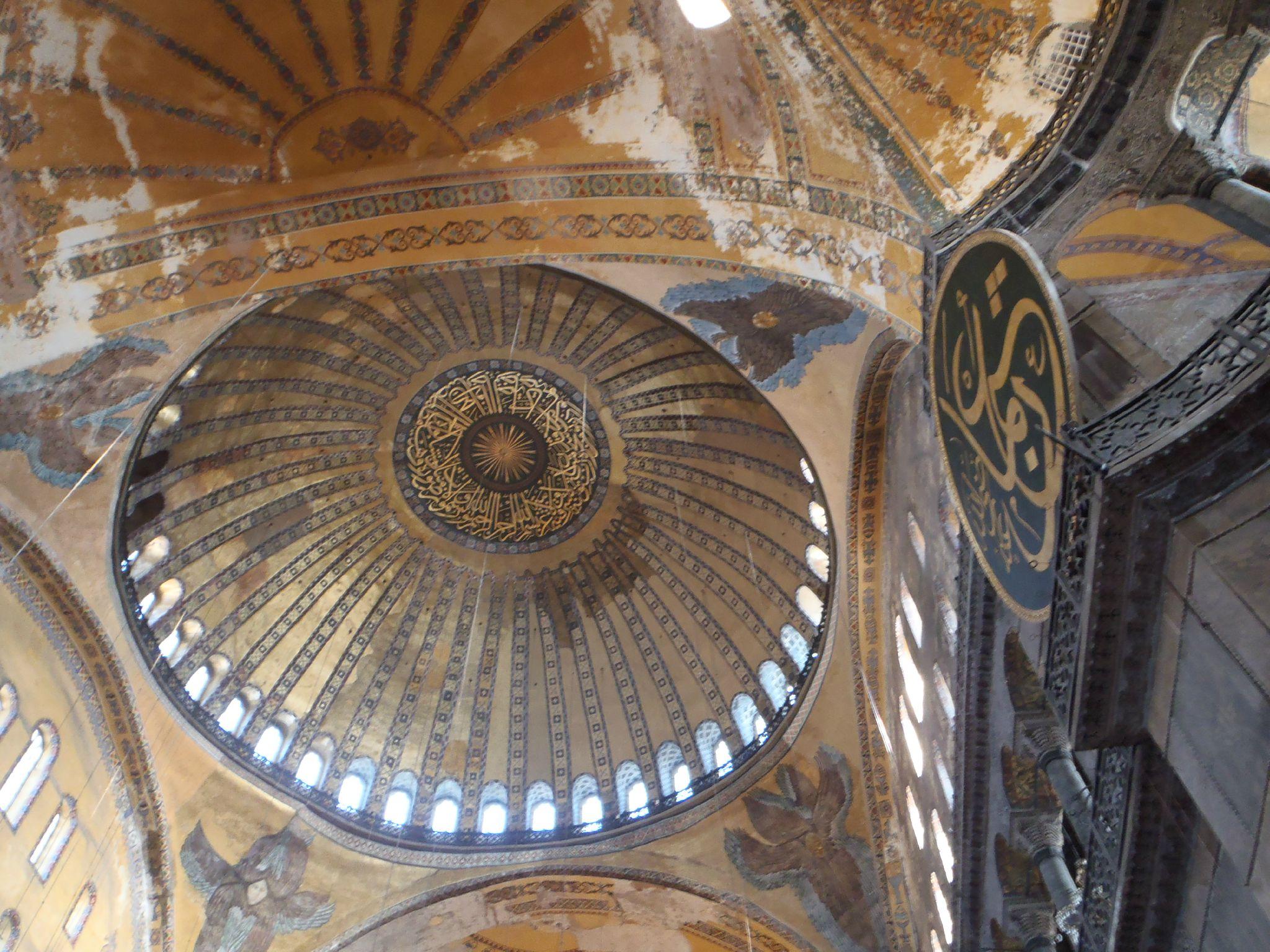 turquie istanbul sainte sophie dome de mozaïque