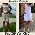 Un été romantique #4 une robe pour un duo zip c'est chic