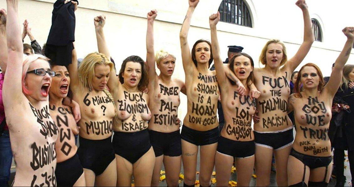 FEMEN islamo-collabo-négationniste