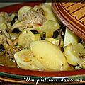 P'tit tajine de boulettes de veau, pommes de terre et citrons confits
