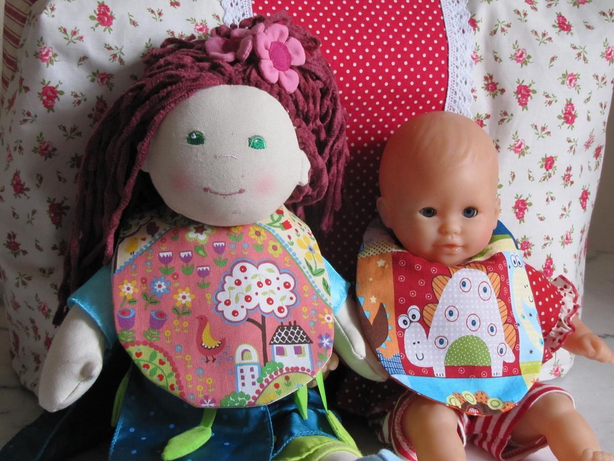 Bavoir de poupée/ Puppen Lätzchen