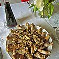 Ailerons de poulet au risotto de langues d'oiseau
