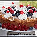 P'tit gâteau couronne <b>pomme</b> d'or au coeur chantilly et fruits rouges