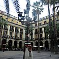 Barcelone, place Reial
