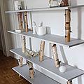 DIY déco <b>bouleau</b> - Un meuble étagère très nature