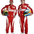 Les nouvelles combinaisons des pilotes de la Scuderia Ferrari