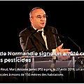 Un maire Normand signe un arrêté contre l'usage des <b>pesticides</b>