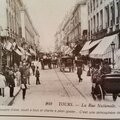 La rue nationale en 1900