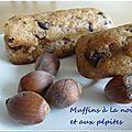 Muffins à la noisette et aux pépites de chocolat