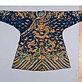 Robe de cour, chine, xixe siècle