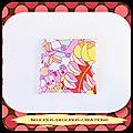 Original coussin Petit <b>Bouillotte</b> <b>Sèche</b> !! ABBEY ROAD !! EN Coton Multicolore 14cm x 14cm BELICIOUS-DELICIOUS CREATION