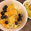 Une entrée super easy et détox : salade d'endives, raisins, et quartiers d'orange