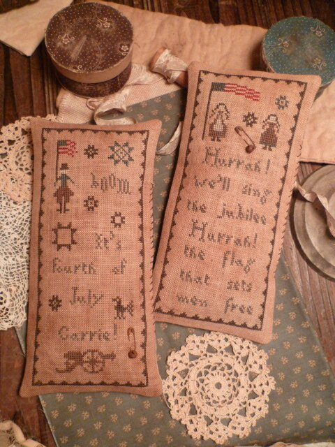 Set of 2 Patterns-Hurrah We will sing the Jubilee US$ 13.50