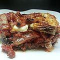 Lasagnes d'aubergine au boeuf et à la ricotta