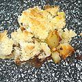 Crumble ananas, noix de coco et pépites de chocolat