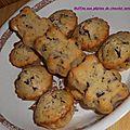 Muffins aux pépites de chocolat sans oeufs.
