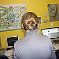 j' ai suivi un <b>tutorial</b> de Bernardine l' Ermite and a ponytail without pulling on the roots