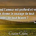 Citation amour & courage