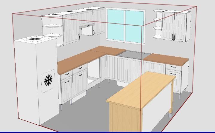 Nouveau plan de la cuisine notre maison alsacienne - Meuble plan travail cuisine ...