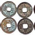 4 pairs zhi ping yuan bao / tong bao matched coins, vf