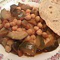 Curry d aubergine courgettes et pois chiche