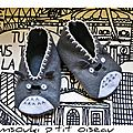 Grosse fixette sur totoro : les chaussons!!!!!