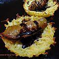 Tartelettes de pommes de terre au foie poêlé