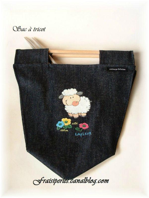 Sac à tricot Mouton