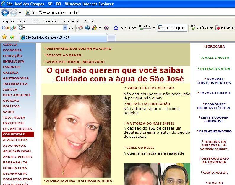 Site Vejo São José