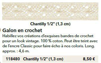p106 crochet chantilly