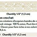 p106 crochet chantilly