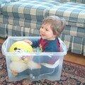 Mini-parc improvisé pour bébé