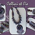 Agate, spirale cellini et perles ...........