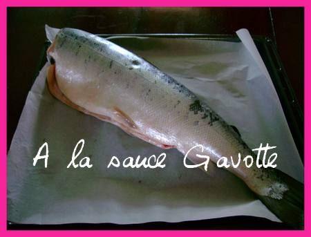 saumon entier au four ou autres poissons a la sauce gavotte cuisine et sant. Black Bedroom Furniture Sets. Home Design Ideas
