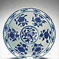 Bowl with six-foliate rim, Ming dynasty (1368-1644), Reign of the Xuande emperor (1426-1435)