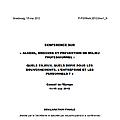 Alcool et drogues en <b>milieu</b> <b>professionnel</b>, en Europe - Groupe Pompidou