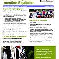 Formation bpjeps activités equestres mention equitation