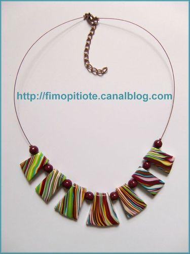 Bijoux pate fimo collier bracelet boucles d oreilles (101)