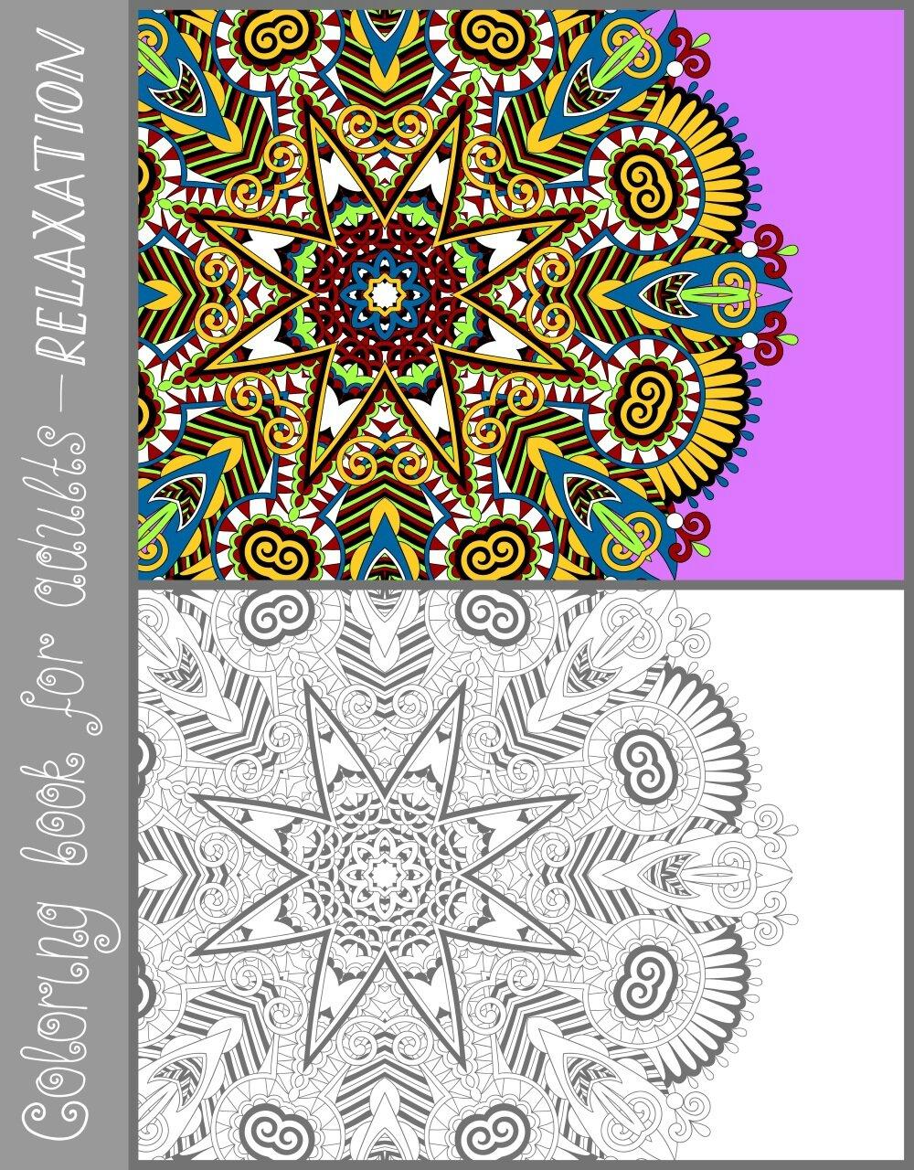 Belle Coloriage Adulte Avec Modele Couleur | Imprimer et Obtenir une Coloriage Gratuit Ici