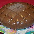 Entremet chocolat-noix de coco